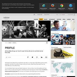 adidas Group - Profile