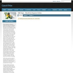 Event Profile - CBD Vape – Beneficial Aspects Online