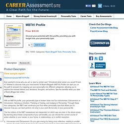 MBTI Profile - Myers Briggs Test Online | Career Assessment Site