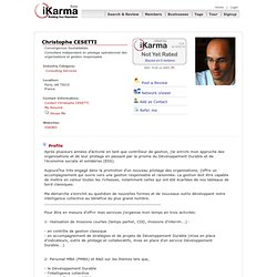 Profile for: Christophe CESETTI - Paris, A8 - iKarma
