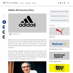 Adidas Profile, History, Founder, Founded, Ceo