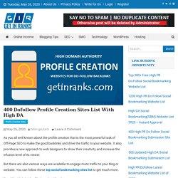High DA Profile Creation Websites