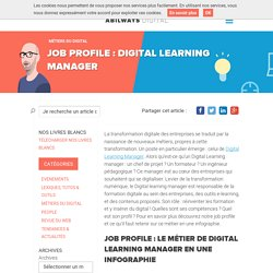 Job profile : Digital Learning Manager