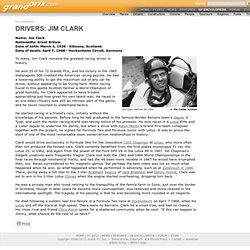 Jim Clark Profile - Drivers - GP Encyclopedia - F1 History on Grandprix.com