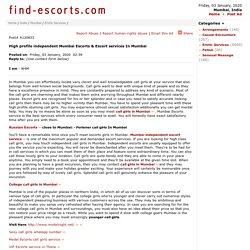 High profile independent Mumbai Escorts & Escort services In Mumbai