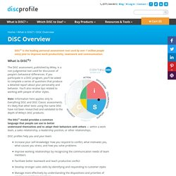 What is DiSC®? Dominance, Influence, Steadiness, Conscientiousness