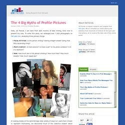 The 4 Big Myths of Profile Pictures OkTrends