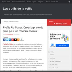 Profile Pic Maker. Créer la photo de profil pour les réseaux sociaux