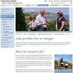 Job profile for a ranger: National Parks UK
