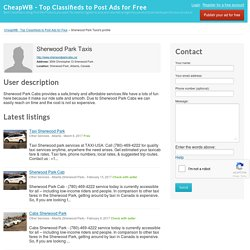 Public profile - Sherwood Park Taxis - CheapWB - Top Classifieds to Post Ads for Free