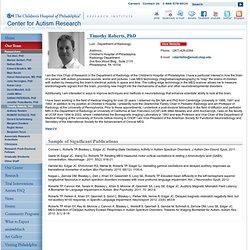 Profile: Timothy Roberts, PhD