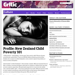 Profile: New Zealand Child Poverty 101