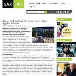 Saxion profileert zich sterker als University of Applied Sciences