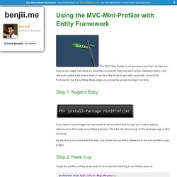 Using the MVC-Mini-Profiler with Entity Framework