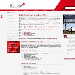 Galion wind lidar - wind profiler, wind speed measurement, wind mapping