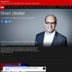 CNN Profiles - Brian Stelter - Host, Reliable Sources & Senior Media Correspondent