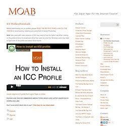ICC Profiles Downloads - Moab by Legion Paper