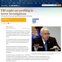 Race profiling for terrorism probes? - US news - Security