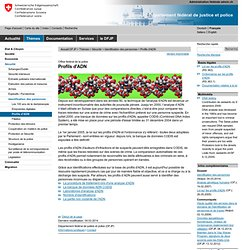 2000 CODIS Fichier ADN