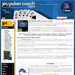 Profils des joueurs de Poker : serré, agressif, passif et shark