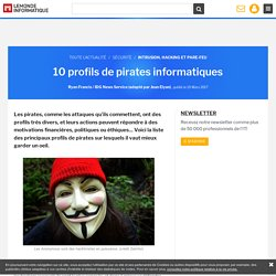 10 profils de pirates informatiques