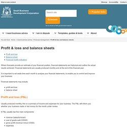 Profit & loss and balance sheets