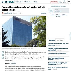 For-profit school plans to cut cost of college degree in half