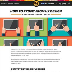 How to profit from UX design