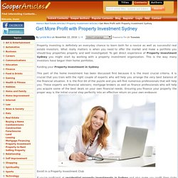 Get More Profit with Property Investment Sydney