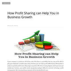 How Profit Sharing can Help You in Business Growth