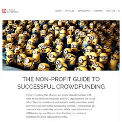 The non-profit guide to successful crowdfunding