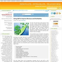 Using SAP to Improve Revenue and Profitability