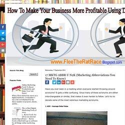 17 MKTG ABBR U N2K (Marketing Abbreviations You Need To Know)