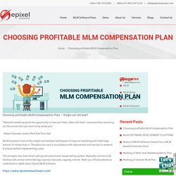 Choosing profitable MLM Compensation Plan
