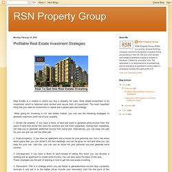 Tips On How To Get Into Real Estate Investing - RSN Property Group