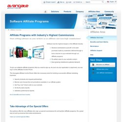 Profitable Software Affiliate Programs