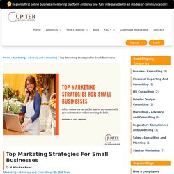 Profitable marketing strategies for small businesses on a tight budget
