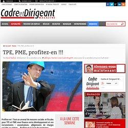 TPE, PME, profitez-en !!!