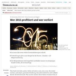 Neue Gesetze: Wer 2015 profitiert und wer verliert