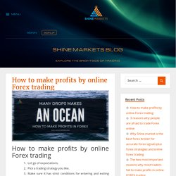 How to make profits by online Forex trading