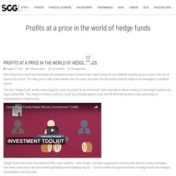 Profits at a price in the world of hedge funds - Sacro Capital Group