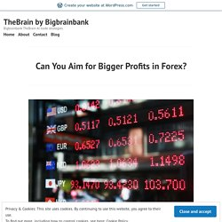 Can You Aim for Bigger Profits in Forex? – TheBrain by Bigbrainbank