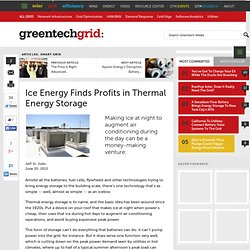 Ice Energy Finds Profits in Thermal Energy Storage