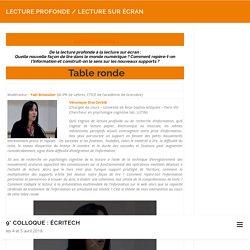 Lecture profonde / Lecture sur écran – 9° Colloque : écriTech
