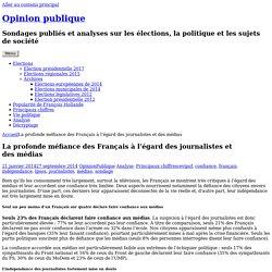 La profonde méfiance des Français à l'égard des journalistes et des médias