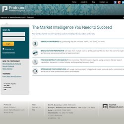 Market Intelligence Seek. Find. Succeed.