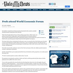 Profs attend World Economic Forum