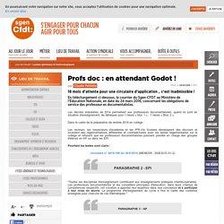 Profs doc : en attendant Godot !