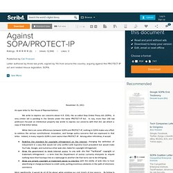Law Profs. Letter Against SOPA/PROTECT-IP