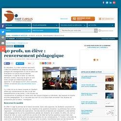 40 profs, un élève : renversement pédagogique